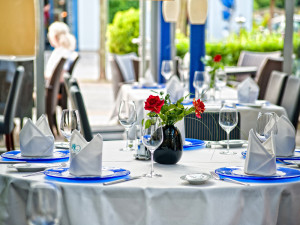 Wintergarten in Wilhelms Restaurant im Neptun Hotel Kuehlungsborn