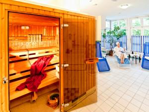 Sauna mit Ruhebereich